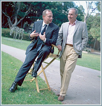 (Michael Colleary with Jonathan N. Zakin after being awarded the Hunter/Zakin Chair at UCLA.)