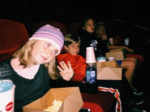 The kids at the movies